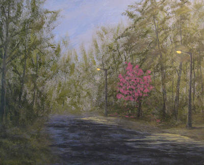 April Shower Painting - April Showers And Flowers by Matthew Hannum