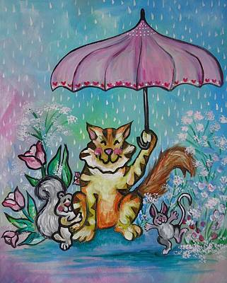 Painting - April Showers by Leslie Manley
