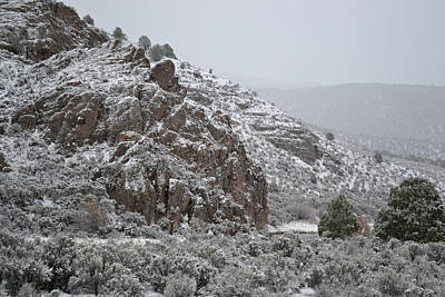 Photograph - April Snow In Utah Vi Landscape by rd Erickson