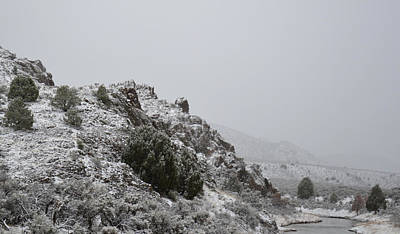 Photograph - April Snow In Utah Vii Landscape by rd Erickson