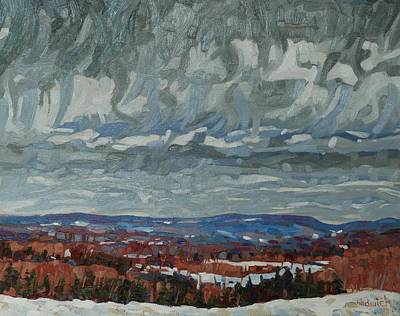 Snow Melt Painting - April Storm Watch by Phil Chadwick