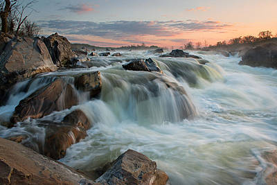Photograph - April Sunrise - Great Falls by Bernard Chen