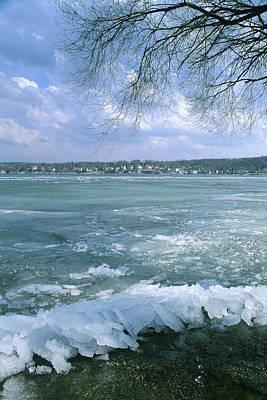 Winter Photograph - April Thaw - Lake Geneva Wisconsin by Bruce Thompson