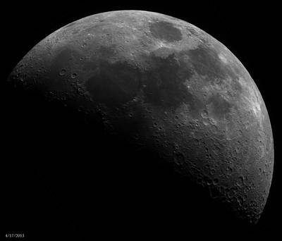 Lunar Photograph - April Waxing Moon by Houston Haynes