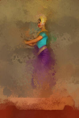 Painting - Apsara Dancing Cambodia Lovely Lady by Teara Na