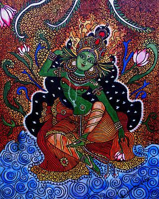 Painting - Apsara by Saranya Haridasan