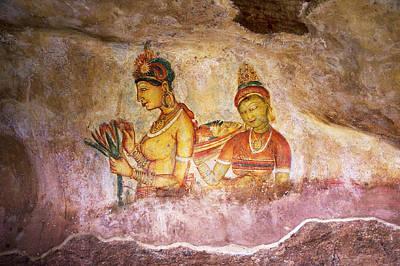 Photograph - Apsaras. Sigiriya Cave Painting by Jenny Rainbow