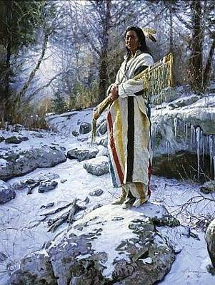 Digital Art - Apsaroke Guardian by Martin Grelle