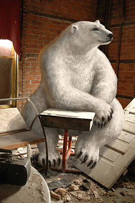 Polar Bear Mixed Media - Apt Pupil by Mark Zelmer