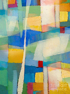 Abstract Impressionism Painting - Aqua Abstract by Lutz Baar