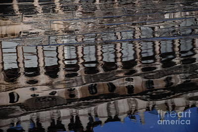 Photograph - Aqua Alta Reflections by Jacqueline M Lewis