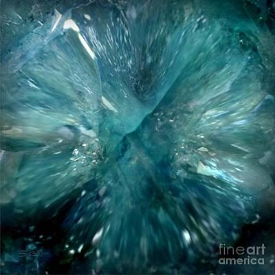 Painting - Aqua Aura Quartz by Tlynn Brentnall