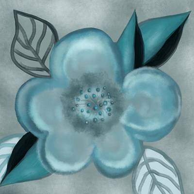 Painting - Aqua Bloom by Christine Fournier