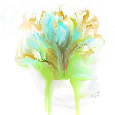 Painting - Aqua Blue And White Flower Bouquet by Jessica Wright
