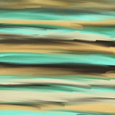 Lime Painting - Aqua Dreams by Lourry Legarde