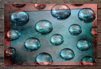Photograph - Aqua Drops 2 by WB Johnston