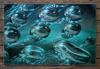 Photograph - Aqua Drops by WB Johnston