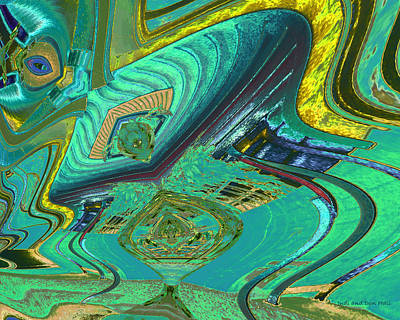Digital Art - Aqua House 3 by Don and Judi Hall