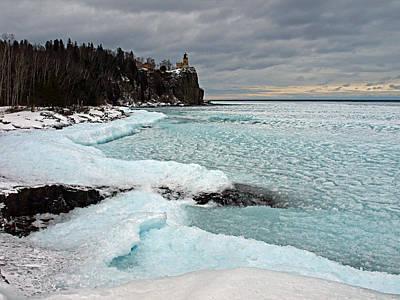 Aqua Ice At Split Rock Lighthouse Original by James Peterson