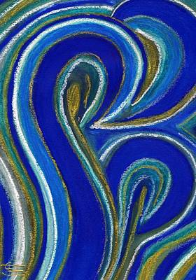 Aqua In Motion IIi Art Print by Carla Sa Fernandes