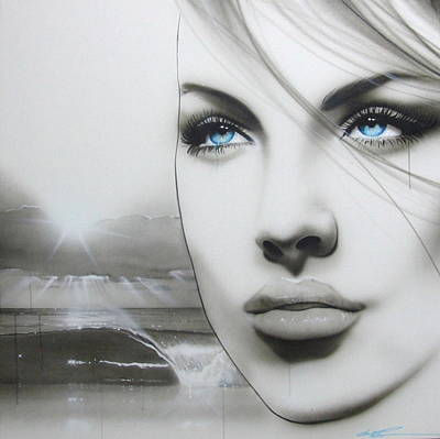 Portrait - ' Aqua Marine ' Original by Christian Chapman Art
