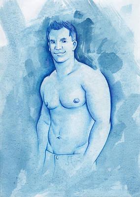 Aqua Art Print by Rudy Nagel