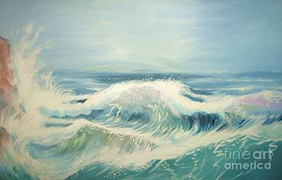 Painting - Aqua Sea Scape by J Linder