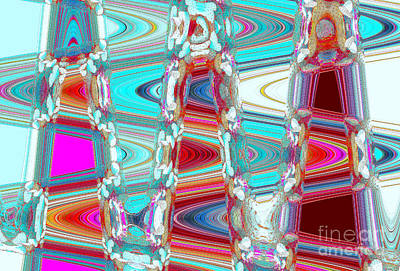 Aqua Space Odyssey Art Print by Ann Johndro-Collins