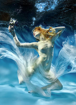 Mermaid Photograph - Aqua-theatre by