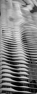 Studio Gang Photograph - Aqua Tower Chicago B W by Steve Gadomski
