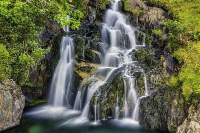 Photograph - Aqua Waterfall by Ian Mitchell