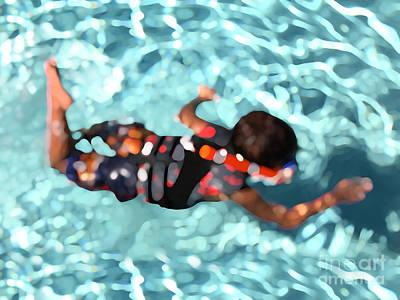 Water Play Digital Art - Aquaboy by Nicholas Burningham