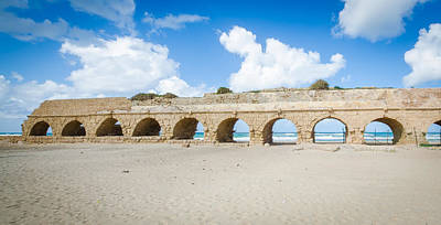 Photograph - Aquaduct Going To Ceasarea by David Morefield