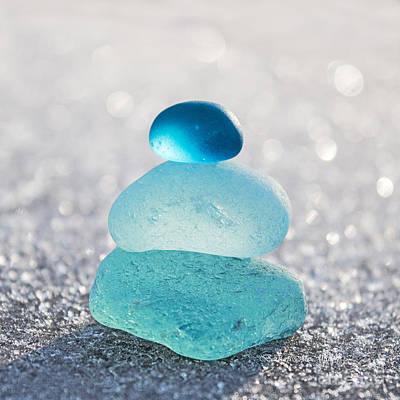 Aquamarine Ice Light Art Print by Barbara McMahon