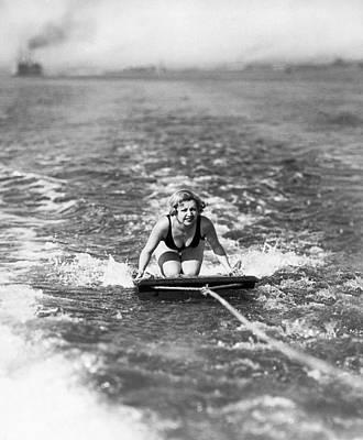 Coronado Photograph - Aquaplane In Coronado by Underwood Archives