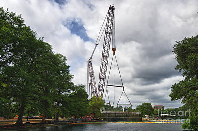 Photograph - Aquarena Springs Submarine Removal Crane by Richard Mason