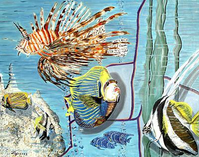 Art Print featuring the painting Aquarium by Daniel Janda