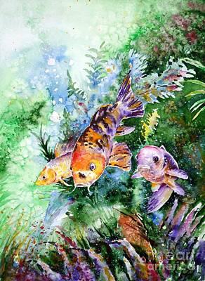 Painting - Aquarium by Zaira Dzhaubaeva