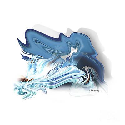 Horoscope Sign Painting - Aquarius by Christian Simonian