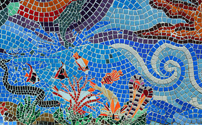 Photograph - Aquatic Mosaic Tile Art by Tikvah's Hope