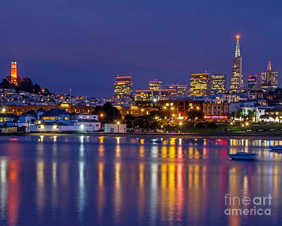 Art Print featuring the photograph Aquatic Park Blue Hour by Kate Brown