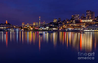 Art Print featuring the photograph Aquatic Park Blue Hour Wide View by Kate Brown