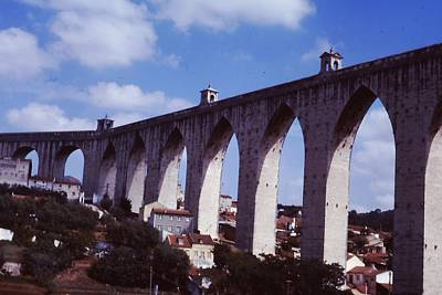Photograph - Aqueduct In Portugal by Pat Knieff