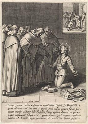 Dominican Drawing - Aquinas Joined The Dominican Order, Egbert Van Panderen by Artokoloro