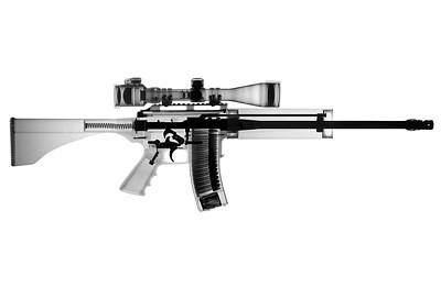 X-ray Photograph - Ar 15 Pro Ordnance Carbon 15 X-ray Photograph by Ray Gunz