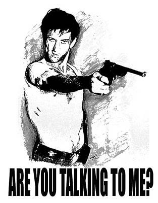 De Niro Photograph - Ar You Talking To Me by Guido Prussia