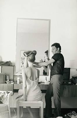 Photograph - Ara Gallant Styling Veruschka's Hair by Franco Rubartelli