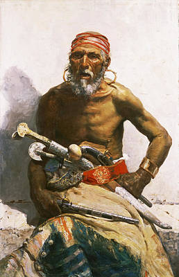 Mariano Fortuny Painting - Arab Chief by Maria Fortuny