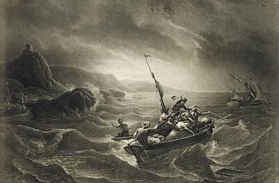 Arab Corsairs Attacked By Fishermen Art Print by Everett