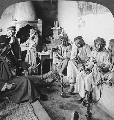 Arab Men At Leisure Art Print by Underwood Archives
